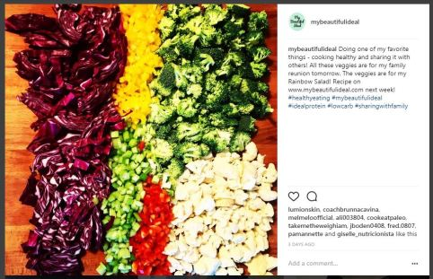 Insta Rainbow Salad My Beautiful Ideal